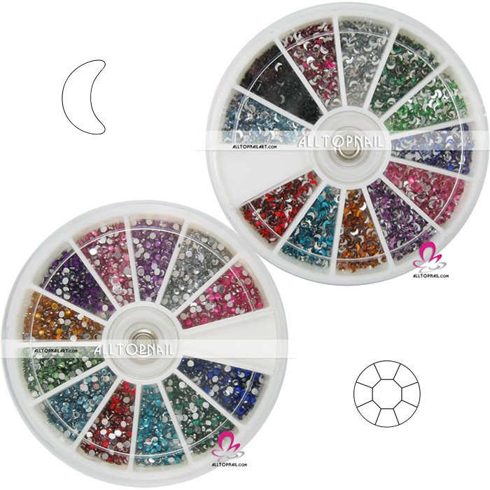 Free-shipping 3d Nail Art Rhinestone/Crystal, Bling Bling nail tips decoration(China (Mainland))
