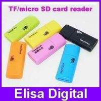 Free shipping USB 2.0 micro sd card reader memory card reader flash card reader, mobile phone card reader,RY019
