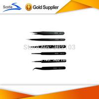 Free Shipping 6pcs/lot Different size Vetus ESD Tweezers Tweezer Anti-Static tweezers ESD10 to ESD 15