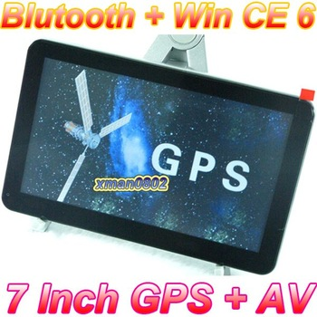 best selling 2011 new map 7 inch car gps navigation system,128MB RAM with bluetooth AV-IN Win CE 6,Built-in 4GB memory