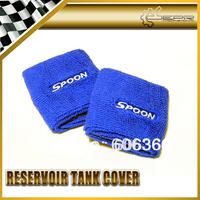Spoon Sports Reservoir Tank Cover blue Color 2Pcs UNIVERSAL JDM