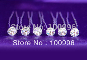 2014 Direct Selling Real Dot Adult Fashion Women Free Shipping Mix Order $15 Rhinestone Hair Pin, Accessories,40pc/lot-hn-0039