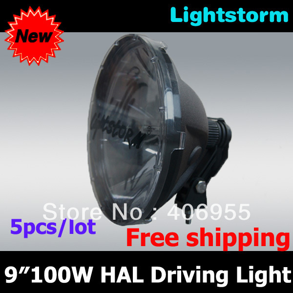 Free shipping! High quality 240mm 9 inch 100w halogen driving headlight for offroad vehicle car truck SUV Jeep(China (Mainland))
