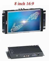 Hot! 8 inch 16:9 LCD Open Frame Touch Monitor for Industrial Application + Free Shipping