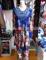 MS052314 free shipping lastest style high quality rose printed muslim abaya