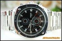Mens personality waterproof watch, wrist quartz analog watch, FREE SHIPPING