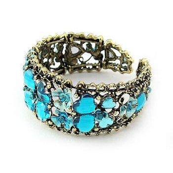 wholesale vintage style crystal hinged rhinestone alloy bracelet/retro bracelet  168