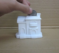 DIY Ferrite House / Vinyl White House mold / DIY platform toys / Paint Your Mind House free shipping(China (Mainland))