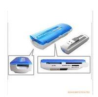 20pcs freeshipping Memory Card Reader TF Multi All In 1 SD Mini MMC MS M2 M5 usb Card reader