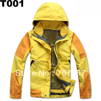 Free shipping detachable hood and fleece jacket inside, warmfull outdoor garment Windproof jacket women