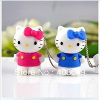 Hello Kitty Usb Flash pen Drive disk Memory Sticks 4GB 8GB 16GB 32GB 64GB Free Shipping
