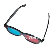 100pcs/lot Polarized 3d stereo glasses Red and blue 3D TV glasses