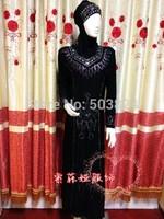 100% guaranteed free shipping,052343,long Muslim abaya,embroidered abaya, 2012,discount price