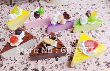 SP165 sweet ice cream/fruit cake squishy phone charm/free shipping