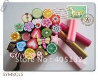 HOT! Free Shipping 50pcs-Mixed 1cm Big Fancy Mixed Nail Art Polymer Clay Canes