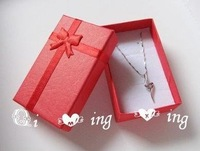 Free shipping 5x8x2.5cm Jewelry Packaging Ring Earring Gift Box 48pcs/lot Red Pink Colors Available Cheap Price Wholesale