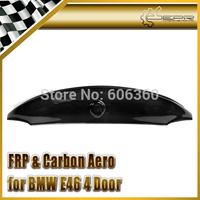 For BMW E46 CSL Style 4 Door Carbon Fiber Trunk Spoiler