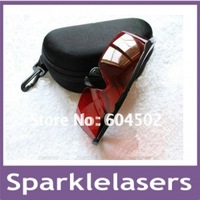 lasers safety glasses for 532nm  laser goggles for protecting eyes +CARRY CASE+ free shipping