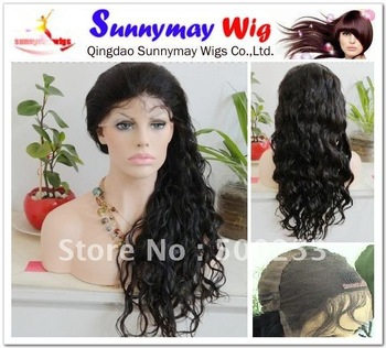 Indian hair wig #1 black fashion loose wave