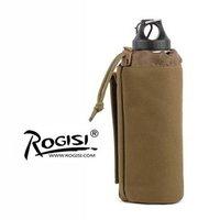 ROGISI 10P10 CORDURA Top Quality  Water Bottle Case  Camping Water Bottle Bag  (ACU Digital Camo/ Black/ Brown)Size:20CM*7.5CM