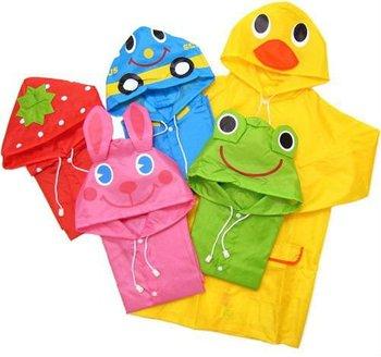 2014 Limited Capa De Chuva Raincoat for Children Kids Funny Raincoat Child Children Cartoon Baby Rain Coat -auto-duck-bunny-frog
