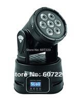 Wholesale - led stage lighting led mini moving 12channel LED wash light 7*8w RGBW LEDs(4in1)