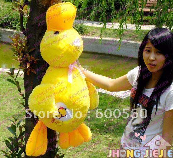 100 cm / 39 inches Plush Stuffed Duck Stuffed Duck Pillow Stuffed Duck Bolster Free Shipping Accept Drop Shipping FT30061(China (Mainland))