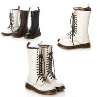 2013 Winter  Boots For Woman Stunning Snow Lace Up Boots  military  Martin boots bandage waterproof seat belt leisure X86