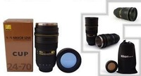 free shipping 60pieces/lot nikan  transparent lid stainess steel thermos camera telescopic Lens coffee Mug Cup  nikan ,not nikon
