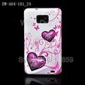 Hot selling! Flower TPU Case Cover For Samsung Galaxy S II I9100 100pieces/lot free shipping via EMS/DHL galaxy s2 case