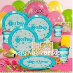 Wholesale Baby boy SHOWER birthday party supplies ,birthday party Tableware Decorations, Party Favor ,Free shipping(China (Mainland))