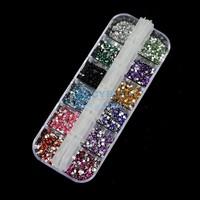 3000 pcs Mix Color Teardrop Nail Art Gems Rhinestones Deco Glitters Beautiful decoration 2064