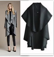 Fashion Women Wool Coat Cape Outdoor Jacket Sexy Shawl Lady Winter Outerwear Poncho Cloak Clothes   Design