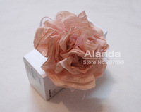 "12pcs/lot 5"" large wrinkled chiffon flower headband hair flower AJB-0090 free shipping (4 colors mixed)"