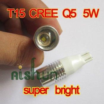 New+Free Shipping 2pcs/lot 12V T15  906 921   lens CREE Q5 5W rascal fall after fall lamp LED lights LED brake light fog lamps