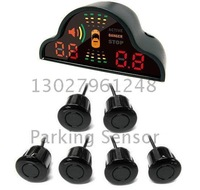 Guaranteed 100% New Intelligent Double LED Digits Car Parking Sensor System with 6 Sensors + 2014 New Arrival