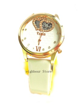 Fasion quartz bracelet watch gift 4 colors for women whole and retail hot sale free shipping(NB6205W)