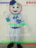 Baseball Man or Mr Met mascot costume Halloween costume Christmas Costume free shipping