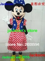 Amerian Flag Minnie mascot costume Halloween costume Christmas Costume free shipping