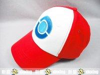 free shipping 2pcs /lot Pokemon cap Ash Diamond Pearl Hat Costume Hat Cap New Baseball cap