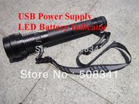 Free shipping 9300MAH battery High light 8500lumens 85W HID Tactical flashlight
