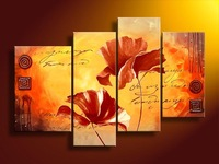 Free shipping blossom flower  pure handmade group set   High Quality Guaranteed  flower  oil painting on canvas