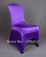 free shipping purple spandex chair cover/lycra chair cover/banquet chair cover