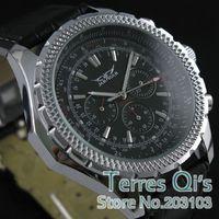 JARAGAR Charm Auto Mechanical Genuine Leather Week Date Watch Mechanical Wrist watch  Christmas Gift
