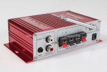 F278A KentigerCar HIFI Power Audio MP3 FM fuction stere radio 20hz-20khz 20W+20W Digital display Amplifier
