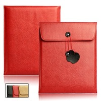 Briefcase Style PU Leather Sleeve Envelope Case Button for Apple iPad / iPad 2 Free Shipping 2-238