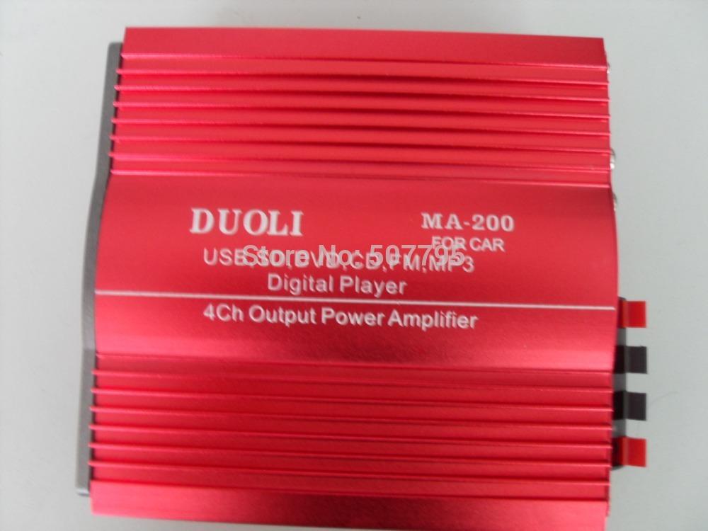 4-канальный USB SD + FM с TDA7388 или TDA2005 Двухместный мотоциклов усилитель MP3 Усилитель удаленного управления...