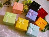 30% off 48 pcs mixed colors cheap price silver jewelry rings paper boxes gift package ring box wholesale