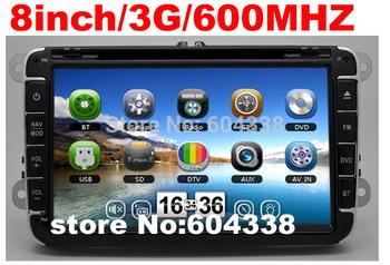 """8"""" car DVD 3G 600MHZ VW Jetta,Bora,GLI,Sagitar,Vento,Caddy,Touran,Golf 5/6,SciroccoIII,Polo5,Rabbit,Amarok,Tiguan,EOS,Sharan"""