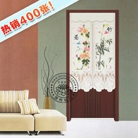 room divider Curtain fabric Japanese screen cut off trade lovely pastoral lace geomantic omen door curtain bamboo-ju Merlin